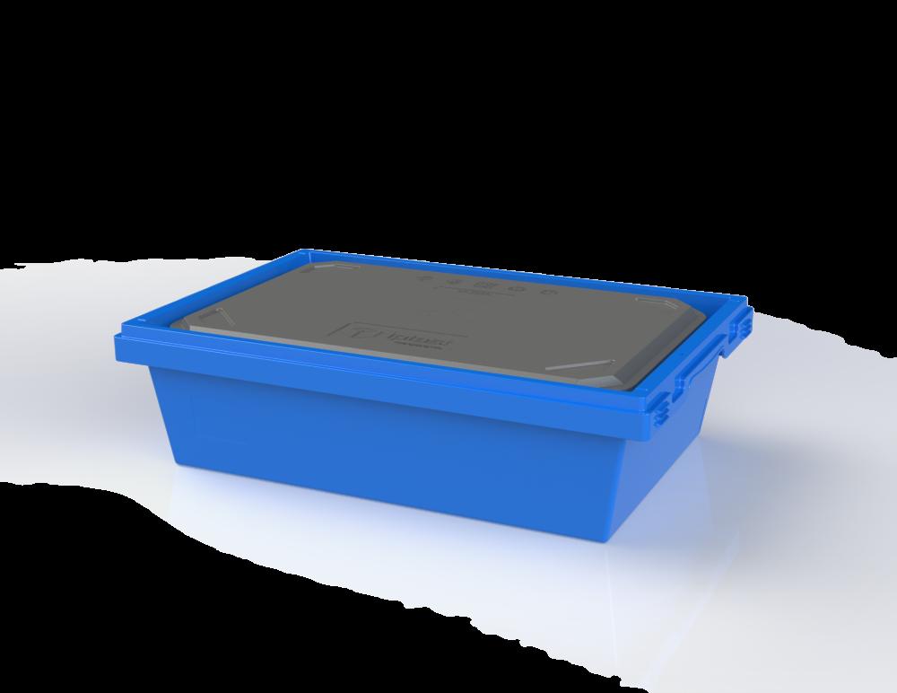 Вкладываемый многооборотный контейнер в с термовкладышем (600х400х175)