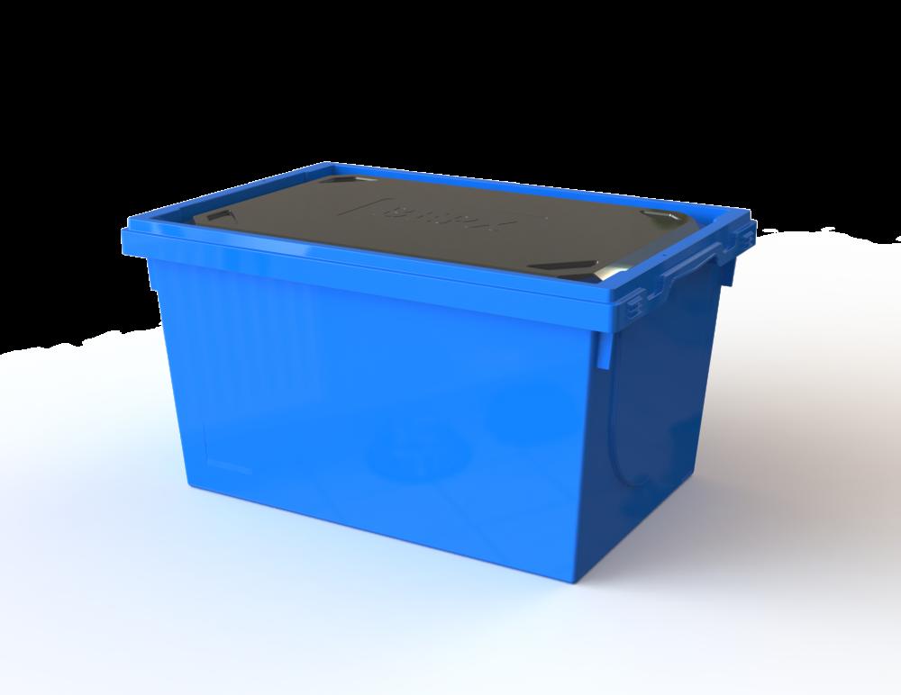 Вкладываемый многооборотный контейнер в с термовкладышем (600х400х335)